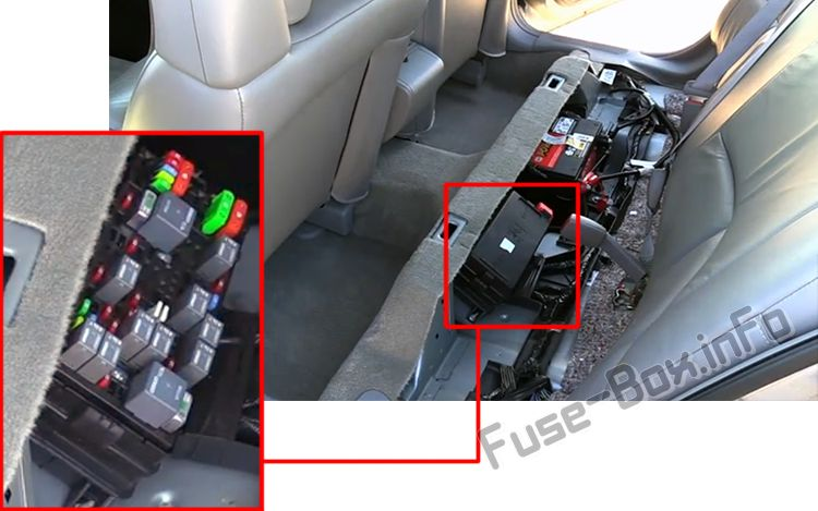 The location of the fuses in the passenger compartment: Pontiac Bonneville (2000-2005)