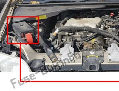 The location of the fuses in the engine compartment: Pontiac Trans Sport (1997, 1998, 1999)