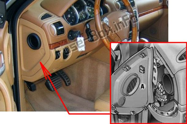 fuse box diagram porsche cayenne 9pa e1 2003 2010. Black Bedroom Furniture Sets. Home Design Ideas