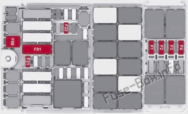 Trunk fuse box diagram: Alfa Romeo Stelvio (2017, 2018, 2019..)