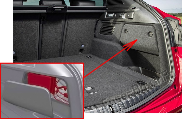 The location of the fuses in the trunk: Alfa Romeo Stelvio (2017, 2018, 2019..)