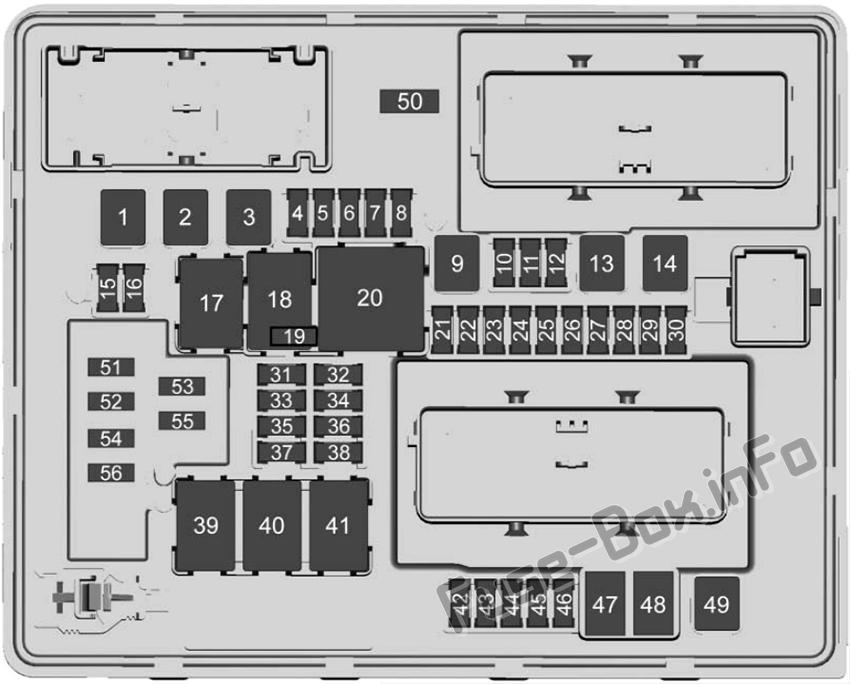 Trunk fuse box diagram: Cadillac ATS (2018)