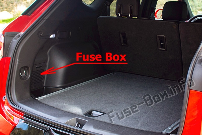 The location of the fuses in the trunk: Chevrolet Blazer (2019-..)