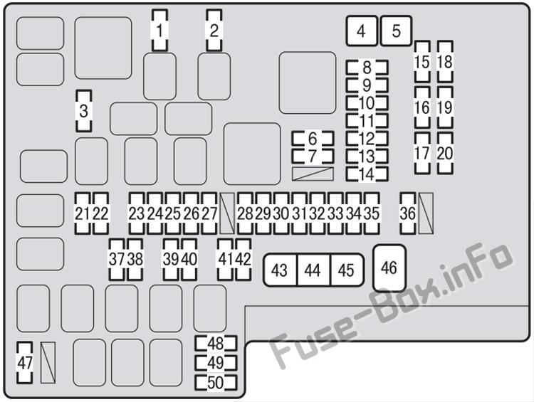 Under-hood fuse box diagram: Subaru BRZ (2013-2019)