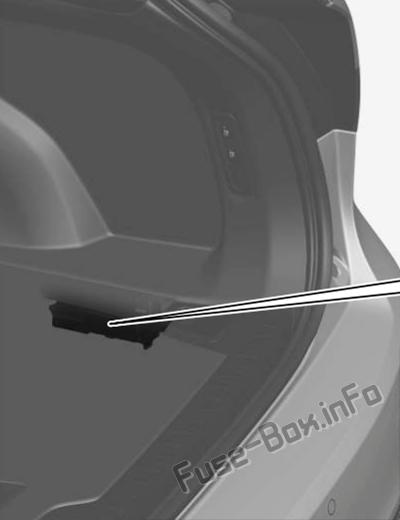 Die Position der Sicherungen im Kofferraum: Volvo V60 (2019)