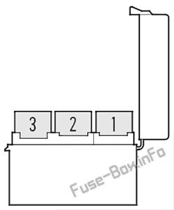 VSA fuse box diagram: Acura CL (2000, 2001, 2002, 2003)