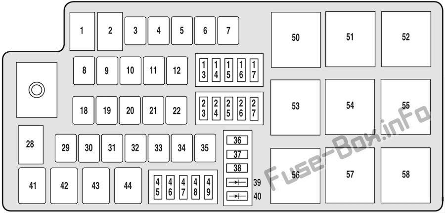 fuse box diagram ford five hundred (2004-2007)  fuse-box.info