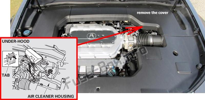 Fuse Box Diagram Acura Tl  Ua8  Ua9  2009