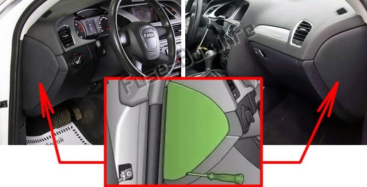 Fuse Box Diagram > Audi A4/S4 (B8/8K