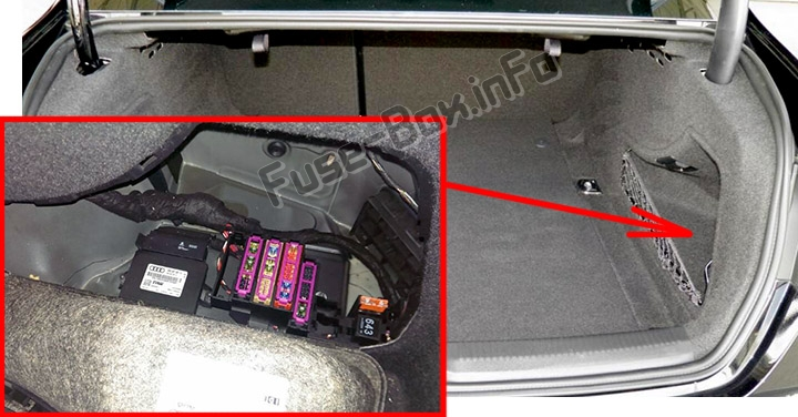 Fuse Box Diagram Audi A4  S4  B8  8k  2008