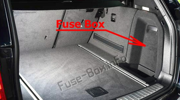 Fuse Box Diagram Bmw X3  F25  2011