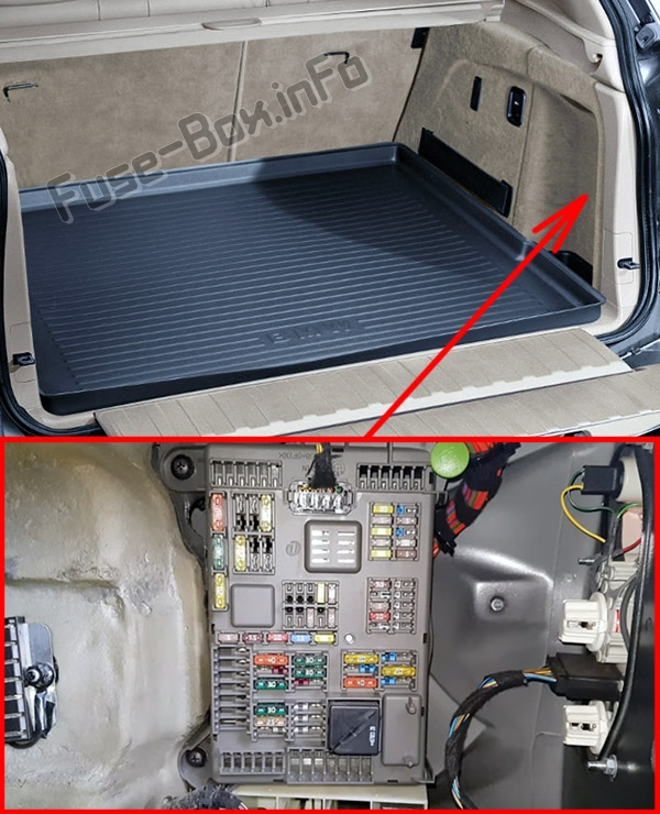 Fuse Box Diagram BMW X5 (E70; 2007-2013)