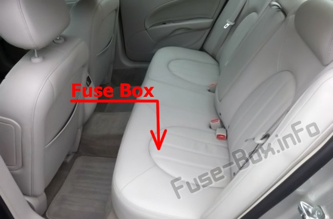 The location of the fuses in the passenger compartment: Buick Lucerne (2006-2011)