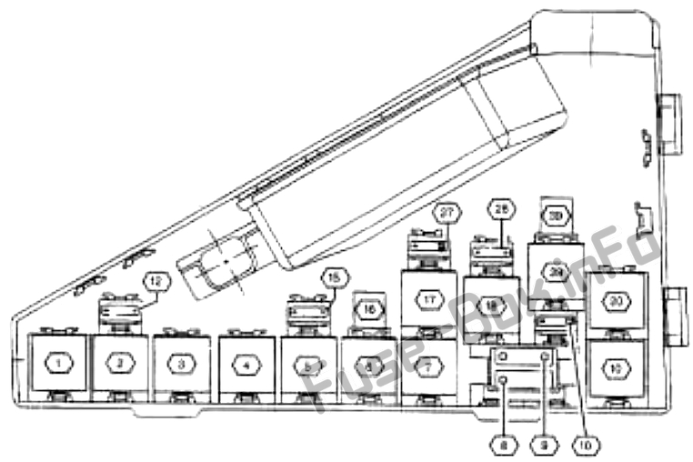 Under-hood fuse box diagram: Cadillac Catera (1997)