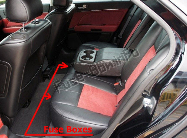 The location of the fuses in the passenger compartment: Cadillac STS (2005-2011)