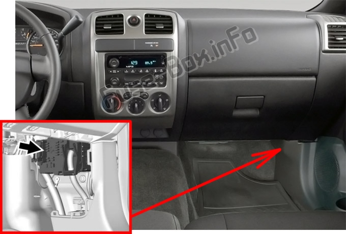Fuse Box Diagram Chevrolet Colorado  2012