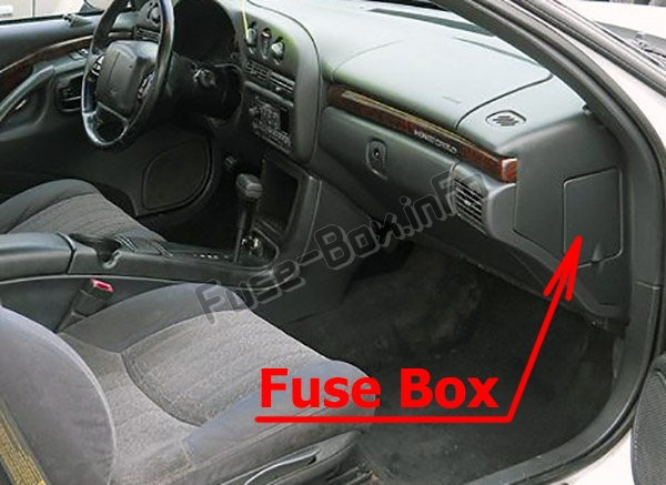 The location of the fuses in the passenger compartment: Chevrolet Monte Carlo (1995-1999)