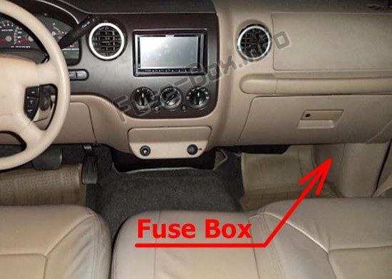 Fuse Box Diagram Ford Expedition  U222  2003