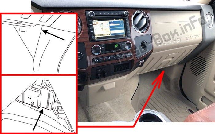 fuse box diagram ford f 250 f 350 f 450 f 550 2013 2015. Black Bedroom Furniture Sets. Home Design Ideas