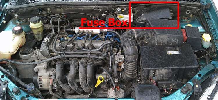 Fuse Box Diagram Ford Focus 1999 2007