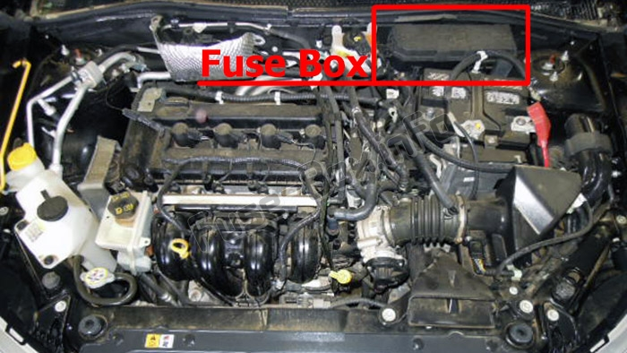 Fuse Box Diagram Ford Focus  2008