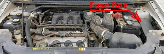 Fuse Box Diagram Ford Taurus  2008