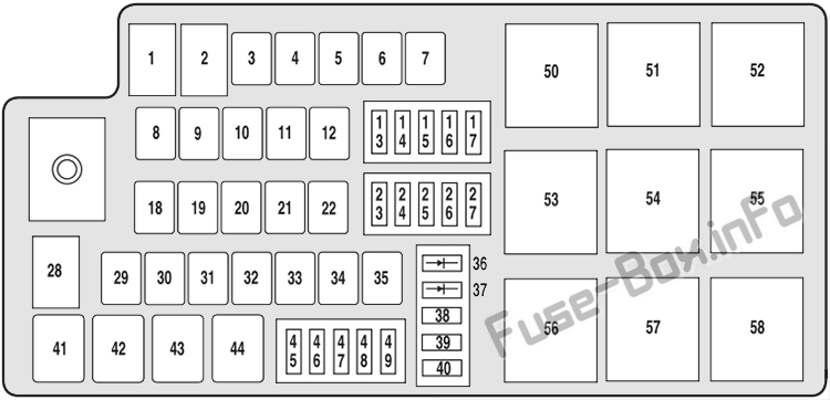 Fuse Box Diagram  U0026gt  Ford Taurus X  2008