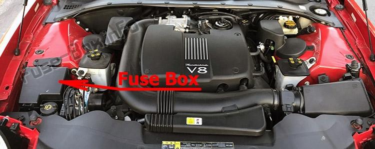 Fuse Box Diagram Ford Thunderbird  2002