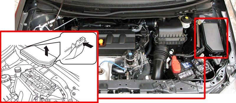 Fuse Box Diagram Honda Civic  2012