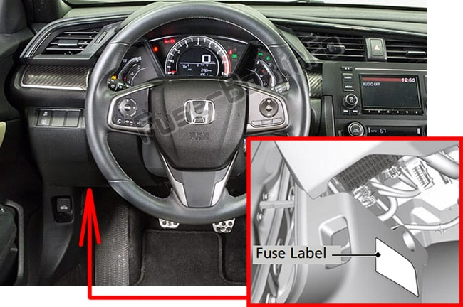 Fuse Box Diagrams > Honda Civic (2016-2019..) Honda Civic Fuse Box Problem on