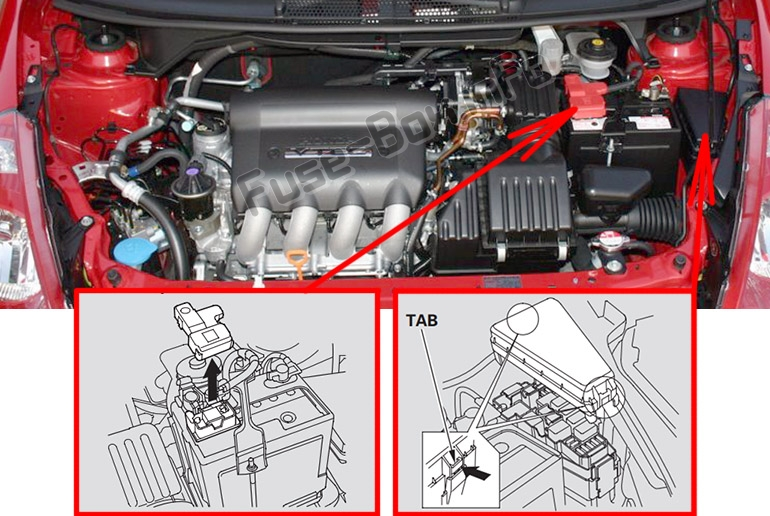 Fuse Box Diagram Honda Fit  Gd  2007