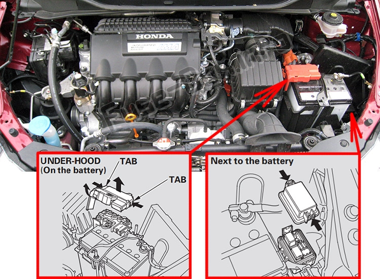 Fuse Box Diagram Honda Insight  2010