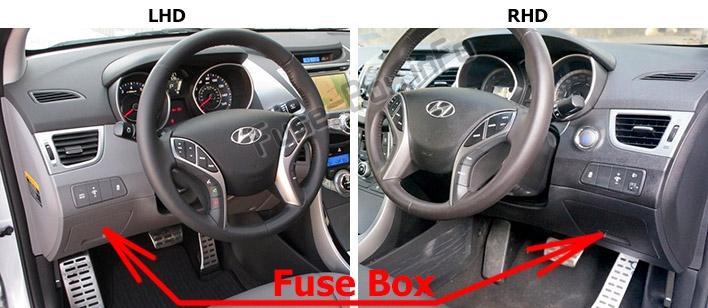 Fuse Box Diagram > Hyundai Elantra (XD