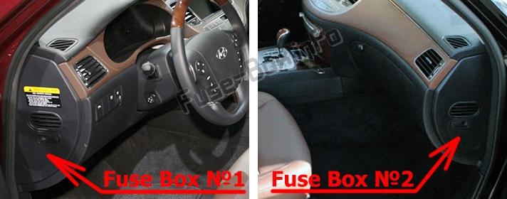 Fuse Box Diagram Hyundai Genesis Bh 2008 2013
