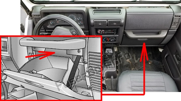Fuse Box Diagram  U0026gt  Jeep Wrangler  Tj  1997