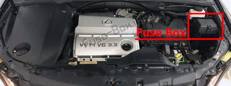 Fuse Box Diagram Lexus Rx330    Rx350  Xu30  2003