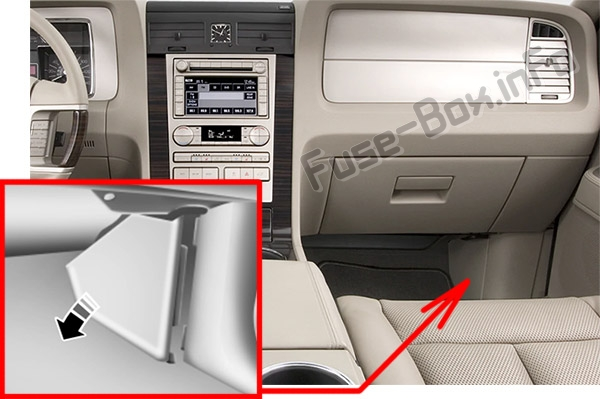 panel the location of the fuses in the passenger compartment: lincoln  navigator (2015-2017
