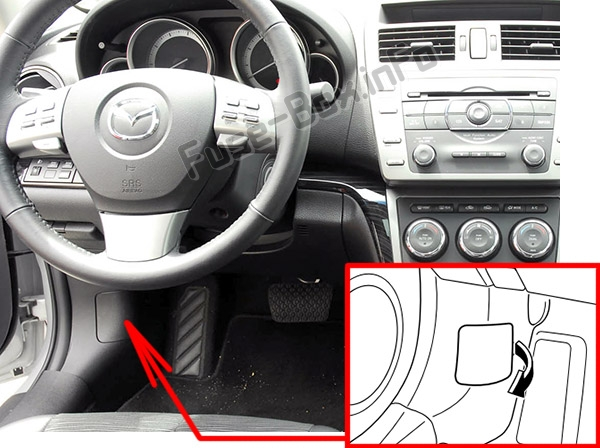 Fuse Box Diagram > Mazda 6 (GH1