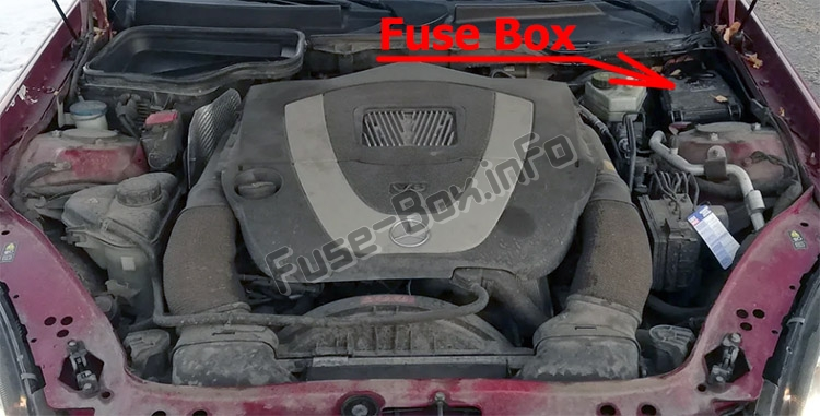 Fuse Box Diagram Mercedes-Benz SLK-Class (R171; 2005-2011)