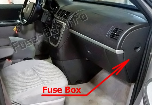 Fuse Box Diagram Pontiac Montana Sv6  2005