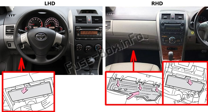 Fuse Box Diagram Toyota Corolla E140 E150 2007 2013