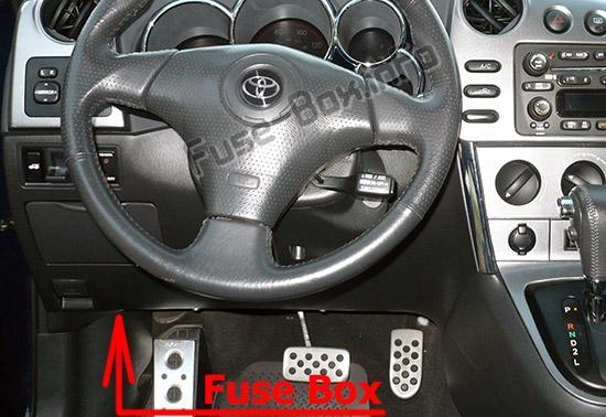 Fuse Box Diagram Toyota Matrix  E130  2003