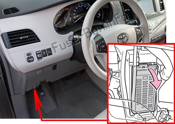 Fuse Box Diagram Toyota Sienna (XL30; 2011-2018)Fuse-Box.info