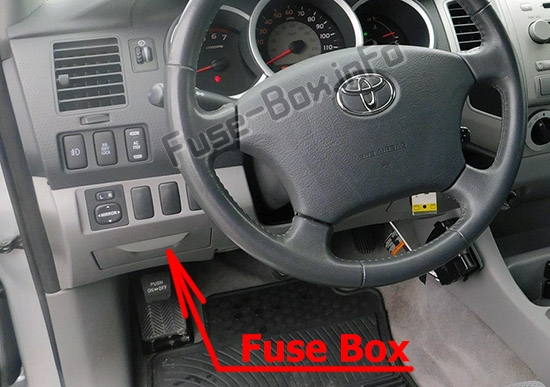 Fuse Box Diagram Toyota Tacoma  2005