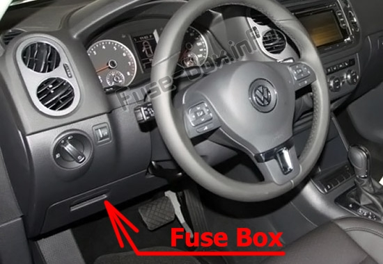 Fuse Box Diagram Volkswagen Tiguan  2008