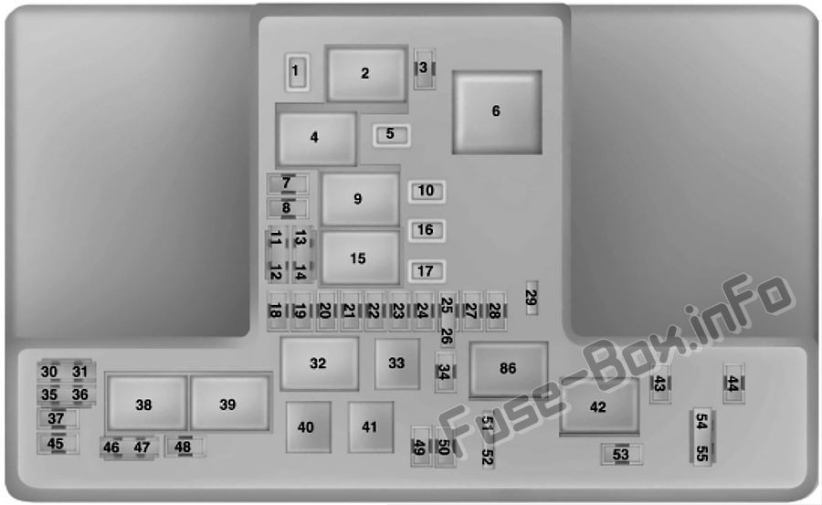 Under-hood fuse box diagram: Ford Everest (2015, 2016, 2017, 2018, 2019..)