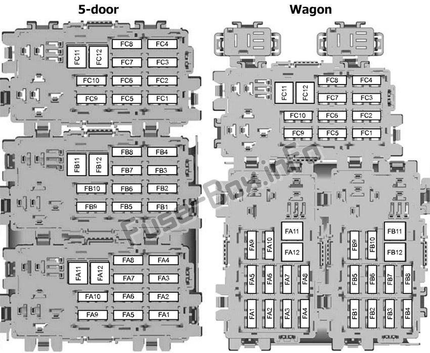 Fuse Box Diagram Ford Mondeo  Mk4  2010