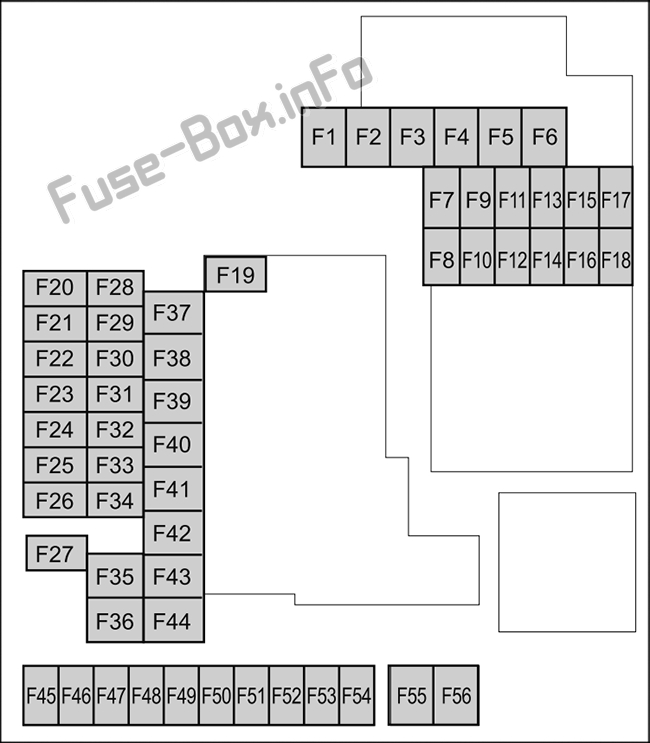 Under-hood fuse box diagram: Mazda 3 (2019-..)