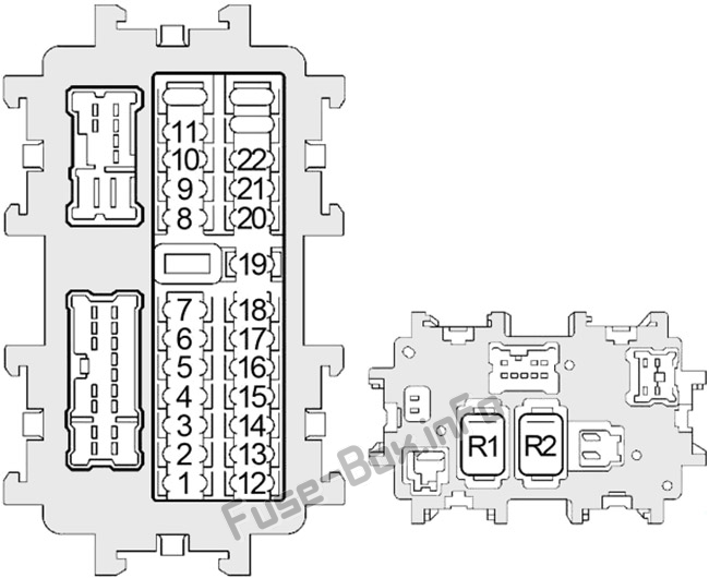 Fuse Box Diagram Nissan Altima (L31; 2002-2006) 2005 Altima Fuse Box Diagram Fuse-Box.info