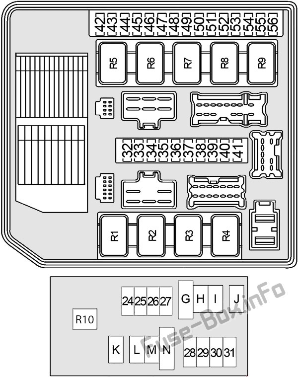 Fuse Box Diagram Nissan Frontier  D40  2005
